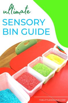 This ultimate sensory bin guide teaches you everything you need to know about sensory bins! This post covers what is a sensory bin, the benefits of sensory bins, sensory bin fillers, ideas for sensory bin themes and more! Tactile Activities, Activities For Kids, Sensory Bins, Sensory Play, Learning Resources, Parenting, Teaching, Blog, Children Activities