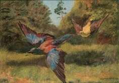 Jozef Chelmonski - Birds, 1896