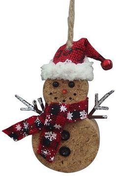 St. Nicholas Square® Snowman Cork Christmas Ornament