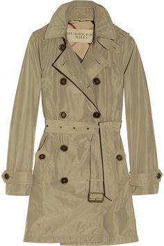 Burberry Brit Hooded Packaway Trench Coat