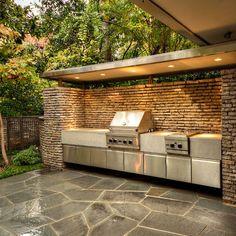 Modern Outdoor Kitchen Design Idea