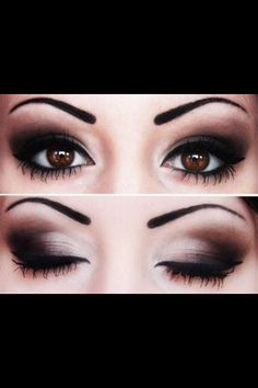 Eye makeup for wedding.