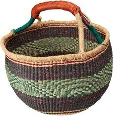 hand woven baskets from ghana | Multicoloured hand-woven Bolga basket from Ghana. ... | AFRICAN BASKE ...