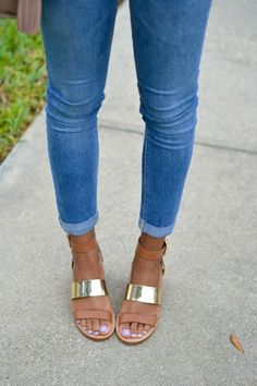 Sandals & Cropped Denim   Summer Outfit Ideas