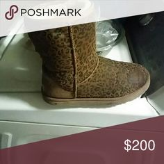 Uggs Brown Cheetah Print Shoes Ankle Boots & Booties