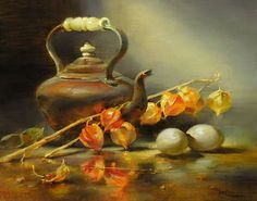 Still Life Painting by Owen Rohu British Artist