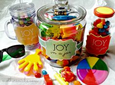 Joy in a Jar: Easiest gift EVER! Works for Teacher Appreciation, Mother's Day, Birthdays, Christmas and even just Cheering someone up! Free printable tags!