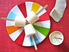 Frozen Yogurt Pops   26 Insanely Easy Two-Ingredient Popsicle Recipes