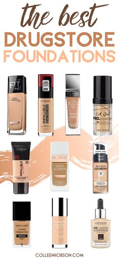 On the hunt for a worthy drugstore foundation? Find out which amazing ones made our Top 10 list. Revlon Colorstay Foundation, Best Drugstore Foundation, Drugstore Makeup Dupes, Best Foundation, No Foundation Makeup, Sephora Makeup, Makeup Cosmetics, Best Walmart Foundation, Best Full Coverage Foundation
