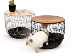 Het ultieme cadeau voor kattenvrouwtjes: een bijzettafel en kattenmand in één