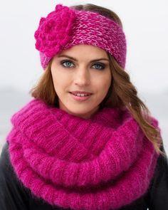Pannband och halskrage i mohair. http://www.knittingroom.se/butik/default.asp?pf_id=SE-113408