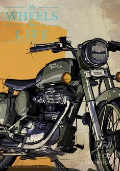 2012 Royal Enfield Bullet Military Original Art,motorcycle Quote,no Wheels No Life by Draw.- 2012 Royal Enfield Bullet Military Original Art,motorcycle Quote,no Wheels No Life by Draw… 2012 Royal Enfield Bullet Military Original… - Royal Enfield Bullet, Royal Enfield Logo, Royal Enfield Thunderbird Modified, Royal Enfield Modified, Palaye Royale, Bullet Pics, Royal Enfield Stickers, Himalayan Royal Enfield, Royal Enfield Classic 350cc