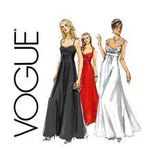 Vogue V8360 Shelf Bust Evening Dress Pattern Retro by CynicalGirl, $8.00