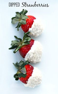 White Chocolate & Coconut Dipped Strawberries