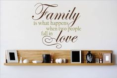 Top Selling Decals - Prices Reduced : Family Is What Happens When Two People Fall In Love Quote Home Living Room Bedroom Decor - Vinyl Wall Sticker - 22 Colors Available Size : 18 Inches X 18 Inches -- Be sure to check out this awesome product. (This is an affiliate link) #HomeDecorAccents