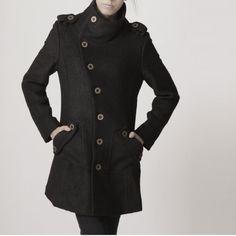 winter coat black coat cashmere coat wool coat winter jacket militory outerwear tailored long coat long sleeves pocket custom women FM018 on Etsy, $118.00