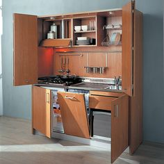 Hideaway kitchens from John Strand More