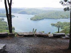 """Road to """"hallmark view"""" Jocassee Gorges"""