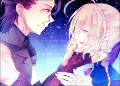 Saber and lancer! So cute!!!!