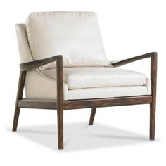 Check out this item at One Kings Lane! Ebonwood Leather Chair, Ivory