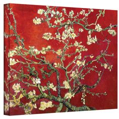 van Gogh 'Red Blossoming Almond Tree' Canvas