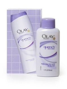 oil of olay quench body wash ... My soap, lotion and shaving cream. The cure for my families eczema and the cost of multiple high priced products.