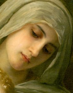 detail Madonna, from painting of Mary and  the Infant Jesus, and St. John the Baptist , 1881  William-Adolphe Bouguereau