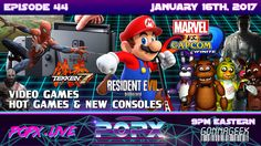We talk about some of the latest upcoming video games approaching including Resident Evil Tekken and Super Mario Run. We also discuss mobile gaming markets and new platforms like the Nintendo Switch. Geek Culture, Pop Culture, Super Mario Run, Tekken 7, New Video Games, Marvel Vs, Resident Evil, Consoles, Science Fiction