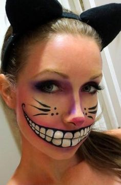 Cheshire cat makeup! Perfect for an Alice in Wonderland Group Costume by jodi