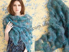 """Rhapsody en tonos azules - Accesorios para la nueva colección de otoño de """"Rhapsody in Blue Tones"""" la revista Vogue, tejido"""