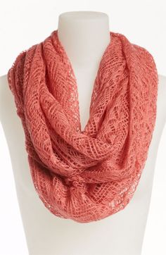pointelle infinity scarf. love it:)