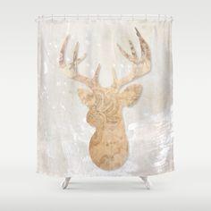 Modern deer Shower Curtain