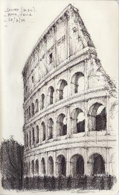 Croquis - Coliseo - por Facundo Alvarez