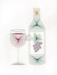 Wine Night by Sew Cute Cards www.facebook.com/sewcutecards  http://sewcute.storenvy.com