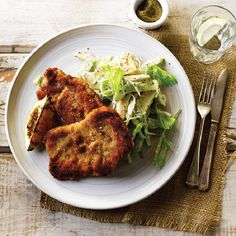 Pork Schnitzel With Crunchy Apple Salad