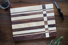 Cutting Board made from Walnut and Maple.