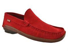 Shoes zapatos mocasin CALLAGHAN 77010 ROJO..