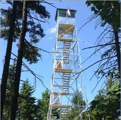 The Stillwater Fire Tower has been restored! One of only 34 still standing towers, the Stillwater Tower is located at the end of a short hike in Webb, NY.