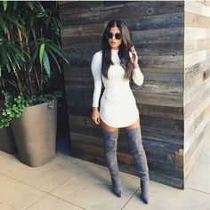 Over the knee boots are all the craze in fashion this season, everyone is wearing them, celebrities included. They're so elegant and perfectly fit the season. So, don't fall behind the trend, take a look at these stylish ways to wear your over the knee boots.
