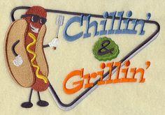 Chillin' & Grillin' Retro Design Father's Day Gift, Birthday Gift, Host Gift