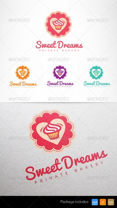 Cupcake Confectionery Sweet Shop Logo Design Template Vector #logotype Download it here: http://graphicriver.net/item/cupcake-confectionery-sweet-shop-logo/6977759?s_rank=429?ref=nexion