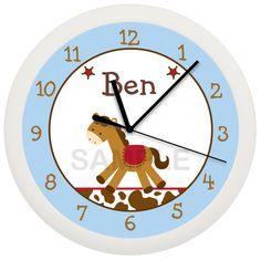 Horse Personalized Nursery Wall Clock by cabgodfrey2 on Etsy, $17.99