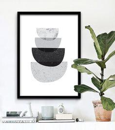 Stampabile di arte astratta, arte della parete stampabile, stampare in bianco e nero, arte geometrica, scandinavo, Instant Download stampabile stampe di arte,