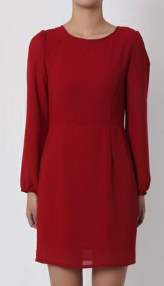 Cute Cheap Puff Sleeve round neck dress 638 - Long-Sleeve Online Shopping Free Shipping 1202068649
