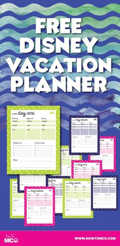 A MUST have for planning your next Disney vacation.