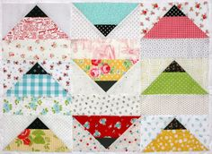 A Little Bit Biased: scrappy Skipper blocks!  Pattern from Vintage Vibe by Amber Johnson
