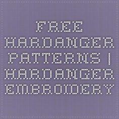 Free Hardanger Patterns | Hardanger Embroidery                                                                                                                                                                                 More