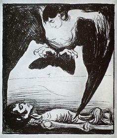 Edvard Munch, Harpy, 1900-1901.