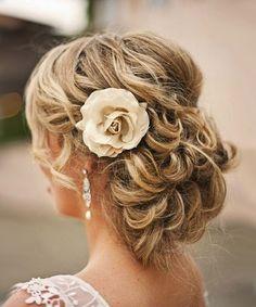 Свадебные прически на среднюю длину волос | hairwiki.ru