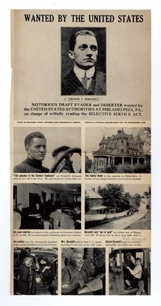 """Grover Bergdoll: America's Most Wanted """"Slacker"""" - Child of Wealth. Race car driver. Aviator. World War I Draft evader. - died at Westbrook Sanatorium in Richmond, Virginia in 1966"""